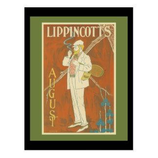 Cubierta del tenis de la revista de Lippincott Tarjeta Postal