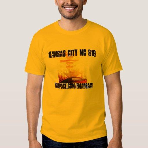 cubierta del tounge de la espada, KANSAS CITY MES Camisas