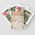 Cubierta del vintage de los instrumentos médicos d baraja cartas de poker