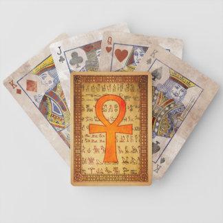 Cubierta egipcia - cruz de Ankh Baraja Cartas De Poker