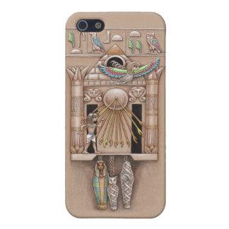 Cubierta egipcia del reloj de cuco iPhone 5 cárcasa