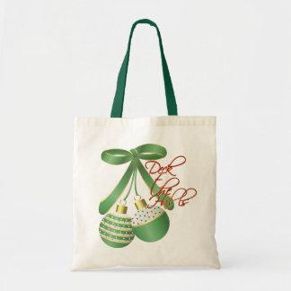 Cubierta el bolso del regalo del navidad de los pa bolsa tela barata