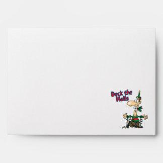 cubierta el dibujo animado divertido del navidad d sobres