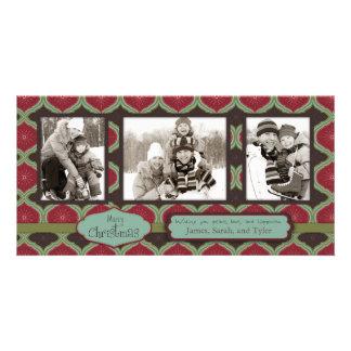 Cubierta el trío de la tarjeta de la foto de los p tarjeta personal