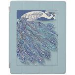 Cubierta elegante del iPad azul del pavo real de Cover De iPad