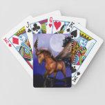 Cubierta encantada de Pegaso de tarjetas Baraja Cartas De Poker