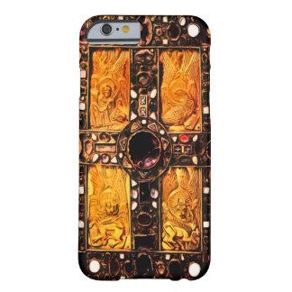 Cubierta encrustada gema germánica de los funda de iPhone 6 barely there