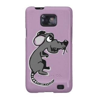 Cubierta enojada del teléfono de la rata galaxy s2 carcasas
