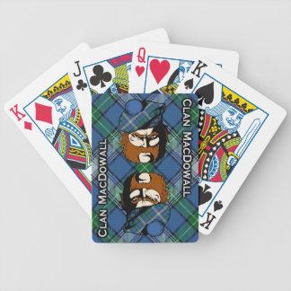 Cubierta escocesa del tartán de MacDowall del clan Baraja Cartas De Poker