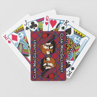 Cubierta escocesa del tartán de MacGillivray del Baraja Cartas De Poker