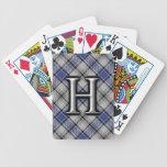 Cubierta escocesa del tartán del monograma de la barajas de cartas