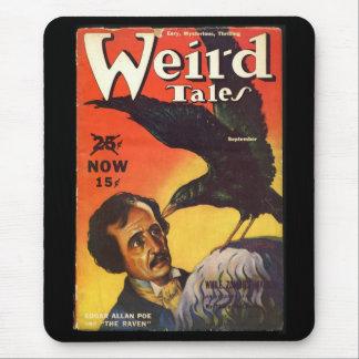 Cubierta extraña de los cuentos de Edgar Allan Poe Alfombrilla De Ratón