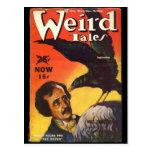 Cubierta extraña de los cuentos de Edgar Allan Poe Tarjeta Postal