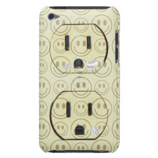 Cubierta feliz del enchufe de las caras iPod touch cárcasa