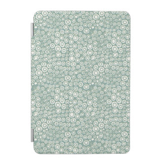 Cubierta femenina del iPad - círculos verdes Cubierta De iPad Mini