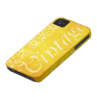 Cubierta floral amarilla del iPhone 4/4s del damas Case-Mate iPhone 4 Carcasa