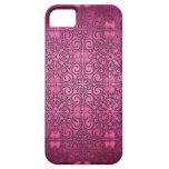 Cubierta floral de la fantasía rosada de la pasión iPhone 5 cárcasas