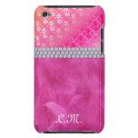 Cubierta floral linda de iPod Barely There de la p iPod Touch Protectores