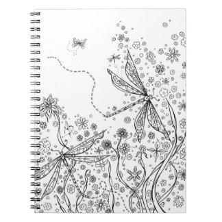 Cubierta floral MADART del colorante del cuaderno