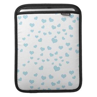 Cubierta flotante azul del fondo de los corazones funda para iPads