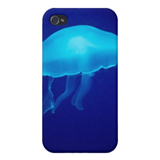 Cubierta flotante del iPhone 4/4S de las medusas iPhone 4 Protectores