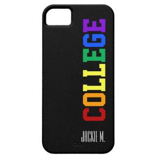 Cubierta gay del iphone de la universidad iPhone 5 funda