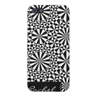Cubierta geométrica blanco y negro del modelo iPho iPhone 5 Carcasa