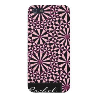 Cubierta geométrica del modelo iPhone4 del rosa y iPhone 5 Carcasa