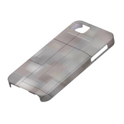 Cubierta gris abstracta del iPhone 5 iPhone 5 Carcasas