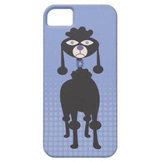 Cubierta gruñona del iphone 5 del caniche de la funda para iPhone SE/5/5s