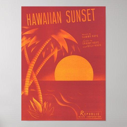 Cubierta hawaiana del cancionero del vintage de la impresiones