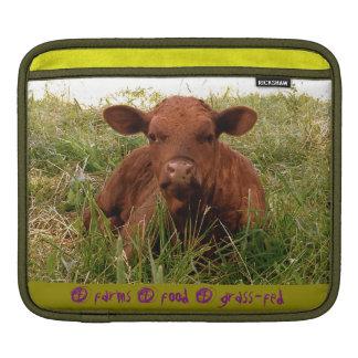 cubierta Hierba-alimentada del ipad de la vaca Manga De iPad