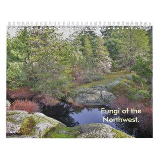 Cubierta, hongos del noroeste calendarios de pared
