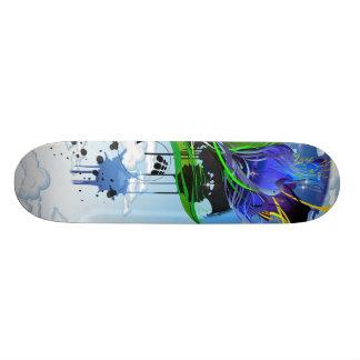 Cubierta imposible de la flora tabla de patinar