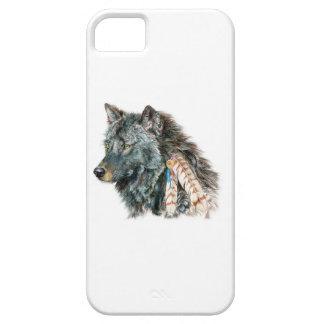 Cubierta india del teléfono celular del lobo para  iPhone 5 Case-Mate cobertura