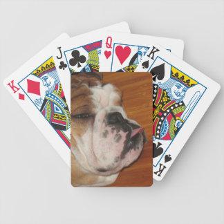 Cubierta inglesa del perro del toro de naipes cartas de juego