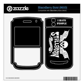 cubierta intrépida 9650 de la zarzamora calcomanía para BlackBerry