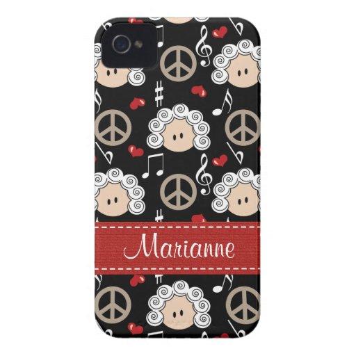 Cubierta intrépida del caso de Beethoven Blackberr Case-Mate iPhone 4 Protector