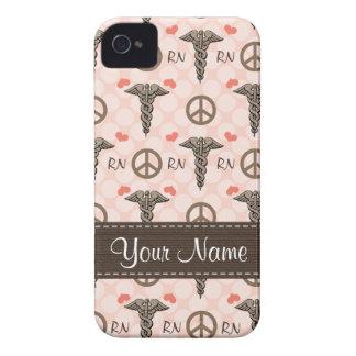 Cubierta intrépida rosada del caso del RN iPhone 4 Case-Mate Cárcasas