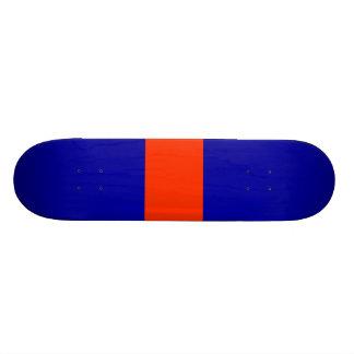 Cubierta inusual 3 del monopatín anaranjada y azul