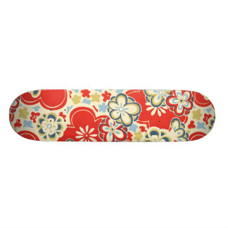 Cubierta japonesa del vintage de los flores de Chi Monopatin Personalizado
