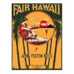 Cubierta justa de la partitura del vintage de Hawa Tarjetas Postales