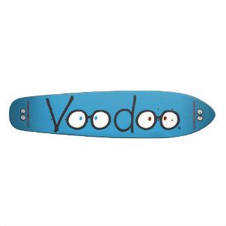 Cubierta larga del monopatín del vudú (azul)