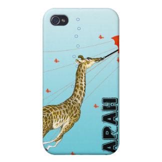 Cubierta linda del iPhone de la jirafa del animado iPhone 4/4S Carcasas