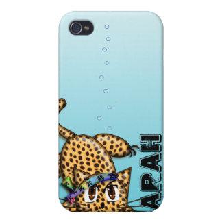 Cubierta linda del iPhone del leopardo del animado iPhone 4 Carcasas