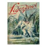 Cubierta, Lisez-Moi, elefante en el trabajo Tarjeta Postal