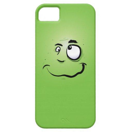Cubierta loca del iPhone 5 del hombre verde iPhone 5 Case-Mate Cobertura