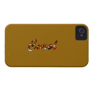 Cubierta marrón del iphone 4 del villancico iPhone 4 carcasas