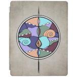 Cubierta moderna del iPad de Nouveau del compás de Cover De iPad