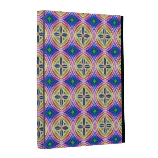 Cubierta multicolora bonita del folio del iPad del